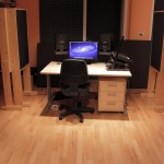 Studio front and wooden floor