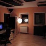 Studio side with some paper lanterns for video shooting