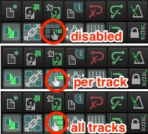 "Ripple editing in Reaper: Click once for ""per track"" or twice for ""all tracks"" options"
