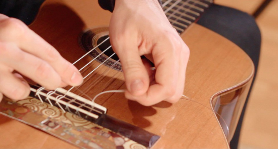 Restringing Classical Guitars